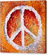 Warm Peace Acrylic Print by Michelle Boudreaux