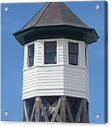 Wash Woods Coast Guard Tower Acrylic Print by Cathy Lindsey