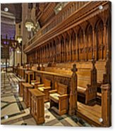Washington National Cathedral Sanctuary Acrylic Print by Susan Candelario