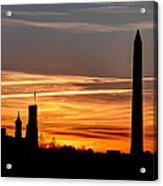 Washington Sunset Acrylic Print by Walt  Baker