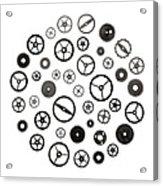 Watch Parts Acrylic Print by Jim Hughes