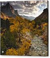 Watchman Sunset Acrylic Print by Joseph Rossbach