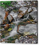 Water Coloured Rocks Acrylic Print by Jonah  Anderson