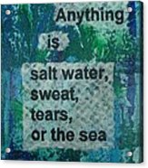 Water Cure - 1 Acrylic Print by Gillian Pearce