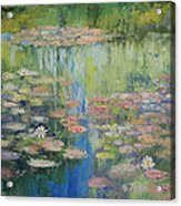 Water Lily Pond Acrylic Print by Michael Creese
