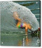 Water Skiing 5 Magic Of Water Acrylic Print by Bob Christopher