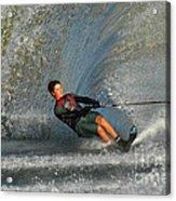 Water Skiing Magic Of Water 13 Acrylic Print by Bob Christopher