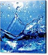 Water Splash Acrylic Print by Michal Bednarek