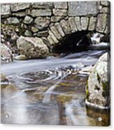 Water Under The Bridge Acrylic Print by Andrew Pacheco