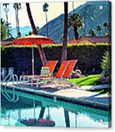Water Waiting Palm Springs Acrylic Print by William Dey