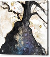 Watercolor Branches Acrylic Print by Tara Thelen