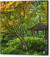 Watercolor Gardens Acrylic Print by Joan Carroll
