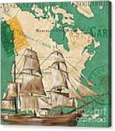 Watercolor Map 2 Acrylic Print by Debbie DeWitt
