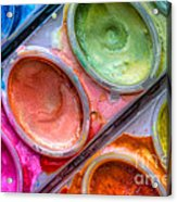 Watercolor Ovals One Acrylic Print by Heidi Smith