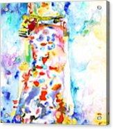 Watercolor Woman.18 Acrylic Print by Fabrizio Cassetta