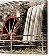Waterfall At The Mill Acrylic Print by Jayne Carney