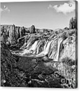Waterfall Acrylic Print by Emirali  KOKAL