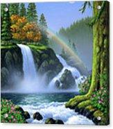 Waterfall Acrylic Print by Jerry LoFaro