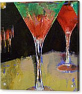 Watermelon Martini Acrylic Print by Michael Creese