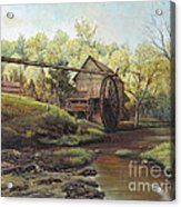 Watermill At Daybreak  Acrylic Print by Mary Ellen Anderson