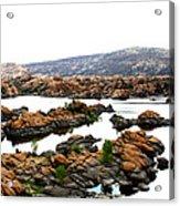 Watson Lake Acrylic Print by Greg Thiemeyer