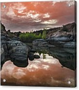 Watson Lake In Pink Acrylic Print by Dave Dilli