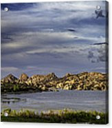 Watson Lake Acrylic Print by James Bethanis