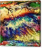 Wave Of Color Acrylic Print by Patty Vicknair