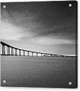 Way Over The Bay Acrylic Print by Ryan Weddle