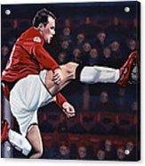Wayne Rooney Acrylic Print by Paul Meijering