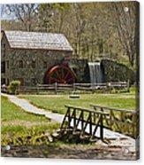 Wayside Grist Mill 8 Acrylic Print by Dennis Coates