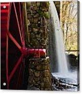 Wayside Grist Mill Acrylic Print by Dennis Coates