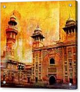 Wazir Khan Mosque Acrylic Print by Catf