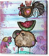 we are all Friends here Acrylic Print by  Abril Andrade Griffith
