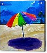 We Left The Umbrella Under The Storm Acrylic Print by Patricia Awapara