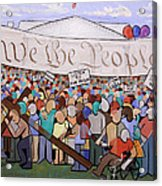 We The People Acrylic Print by Anthony Falbo
