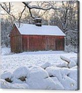 Weathering Winter Acrylic Print by Bill Wakeley