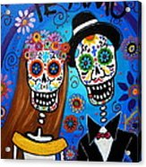 Wedding Couple  Acrylic Print by Pristine Cartera Turkus