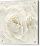 Wedding Day White Roses Acrylic Print by Jennie Marie Schell