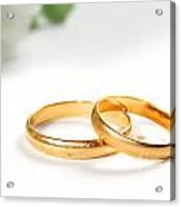 Wedding Rings Acrylic Print by Michal Bednarek