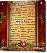 Welcome Acrylic Print by Bedros Awak