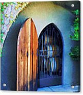 Welcome To The Winery Acrylic Print by Elaine Plesser