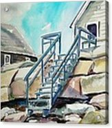 Wells Beach Beach Stairs Acrylic Print by Scott Nelson