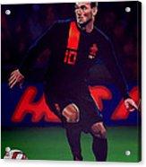 Wesley Sneijder  Acrylic Print by Paul Meijering