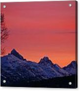 West Side Teton Sunrise Acrylic Print by Raymond Salani III