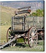 Western Wagon Acrylic Print by Sabrina L Ryan