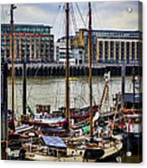 Wharf Ships Acrylic Print by Heather Applegate