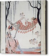 What Do Young Women Dream Of? Acrylic Print by Georges Barbier
