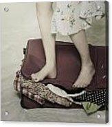 When A Woman Travels Acrylic Print by Joana Kruse