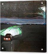 When The Night Start To Walk Listen With Music Of The Description Box Acrylic Print by Lazaro Hurtado
